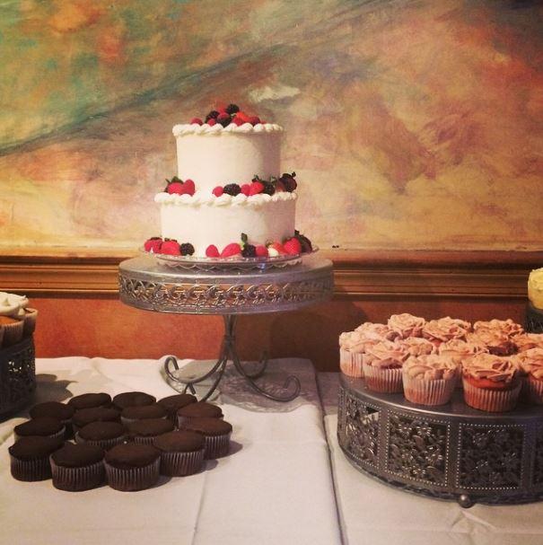 Stacked Wedding Cake with Fresh Fruit